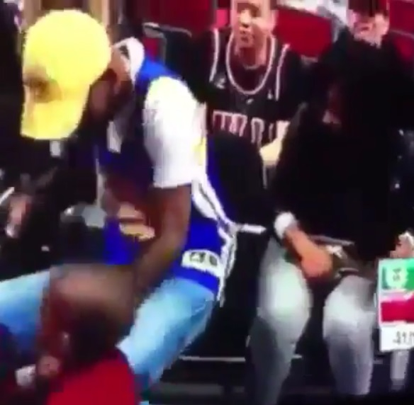 Courtside Fan gets Caught with Side Chick?