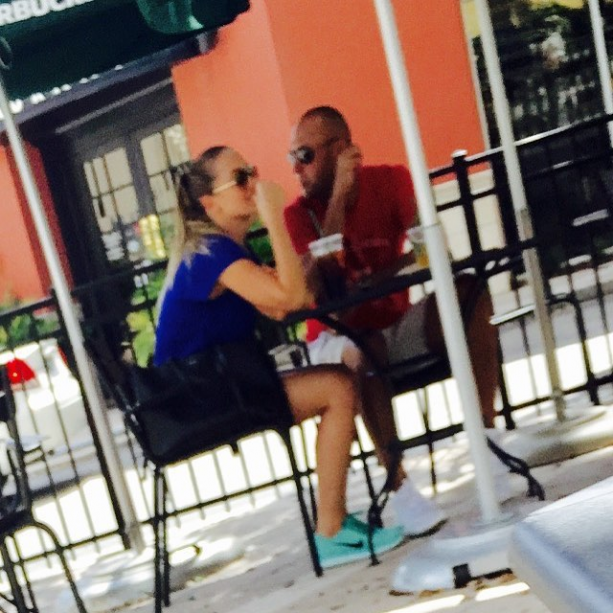 Mr. and Mrs. Jeter Spotted Getting Caffeinated