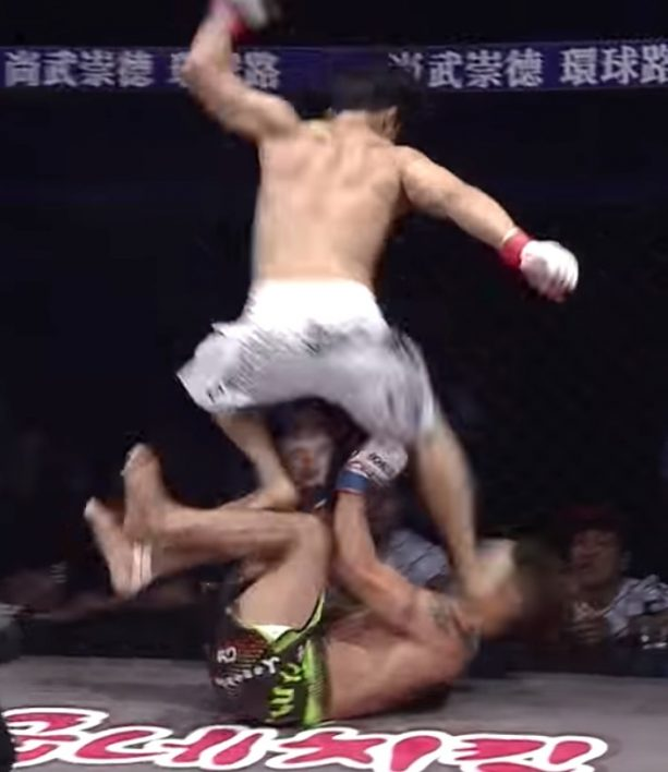 MMA Fighter Disqualified For Head Stomp