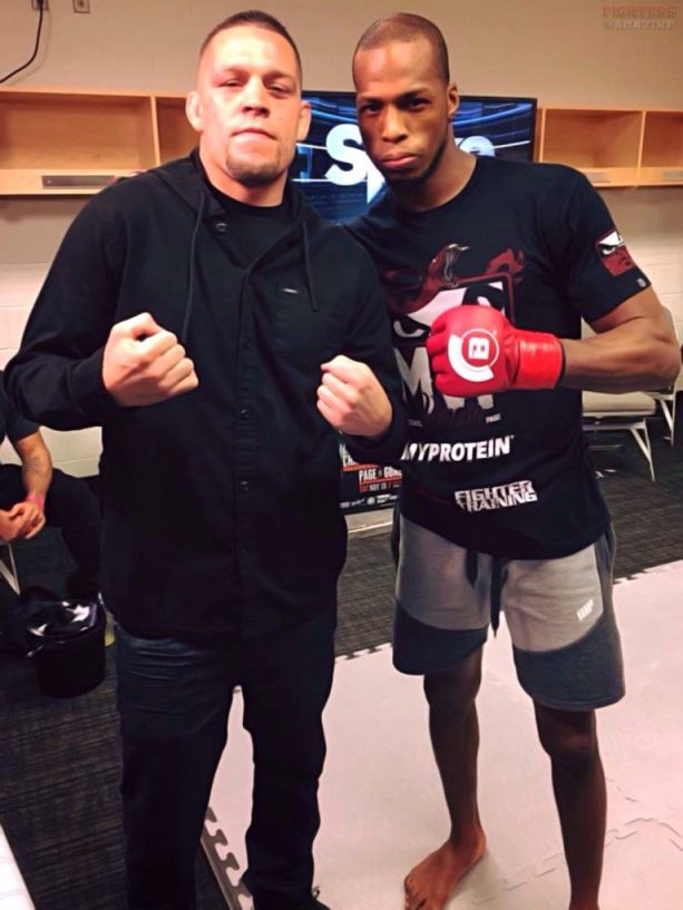 Nate Diaz Hangs With Michael Venom Page