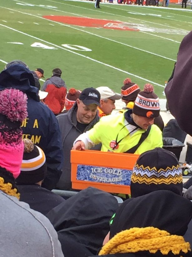 Johnny Manziel Selling Beer at Browns Game?