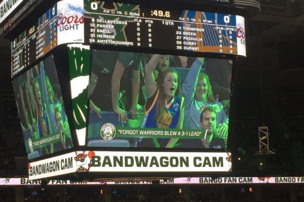 Bucks Mock Warriors Fans with Bandwagon Cam