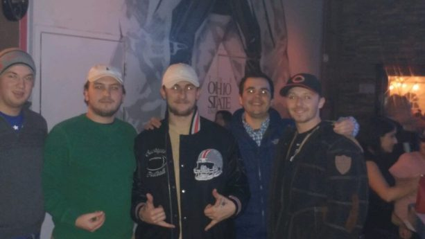 Johnny Manziel Hand Horns Out at the Bars