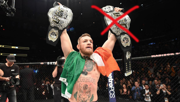 Conor McGregor Stripped Of His 145 Title