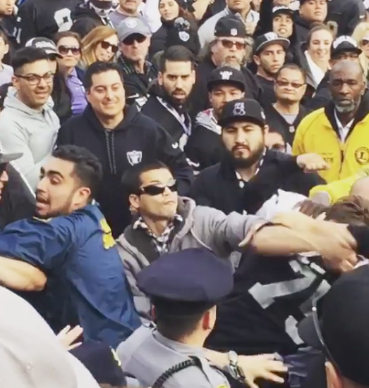 That's Odd, A Fight Broke Out At The Raiders Game