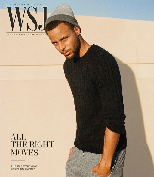 Steph Curry Covers the Wall Street Journal