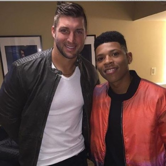 Tim Tebow Hangs with Yazz the Greatest
