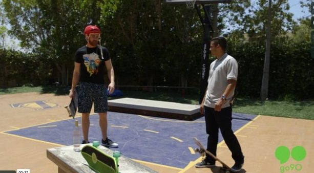Skateboard drinking game in P-Rod's backyard