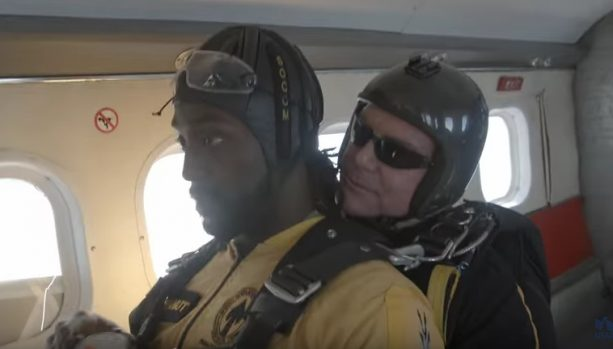 "Charles ""Peanut"" Tillman Jumps Out of a Plane"
