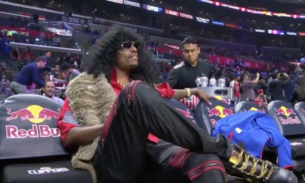 Paul Pierce Sat on the Bench as Rick James Bitch