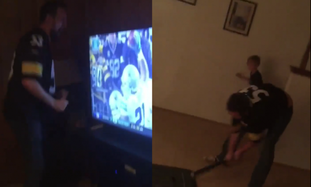 Steelers Fan Smashes Television