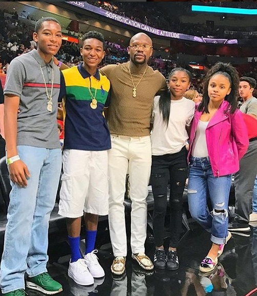 Floyd Mayweather and Son's Fashion Game Not on Point