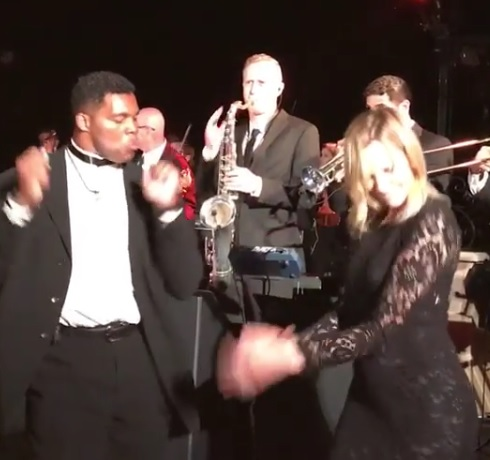 Herschel Walker and Janet Gretzky Cut a Rug