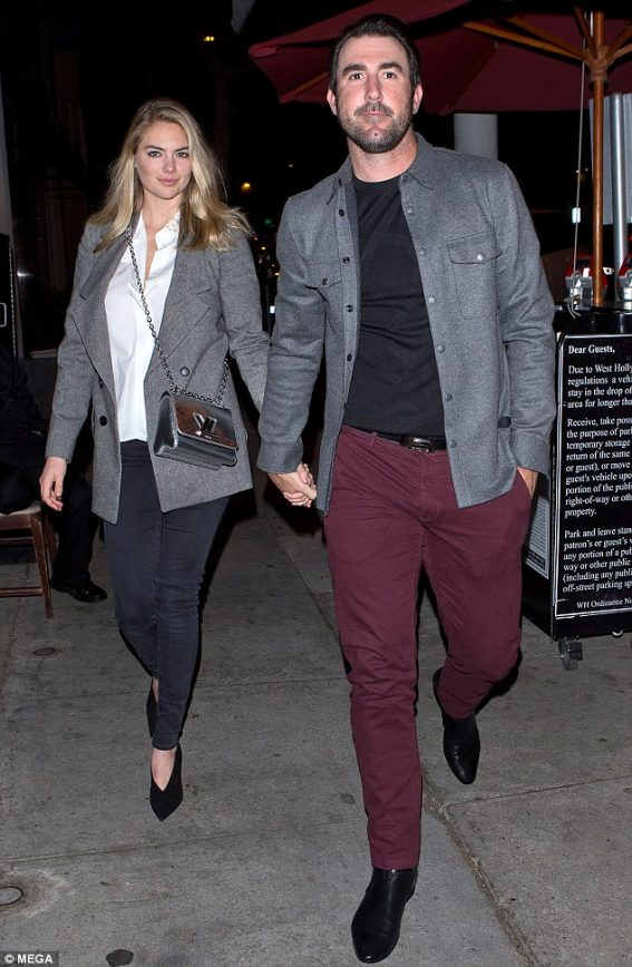 Kate Upton and Justin Verlander All Loved up on Date Night