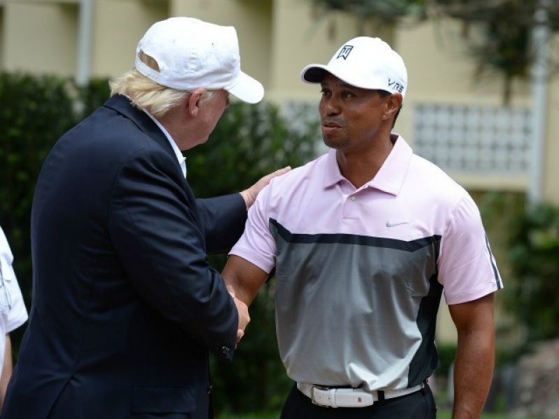 Tiger Woods To Play Golf With Donald Trump Today