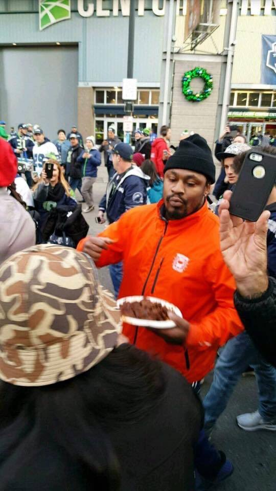 Marshawn Lynch Beastmode Tailgater Before Seahawks Game