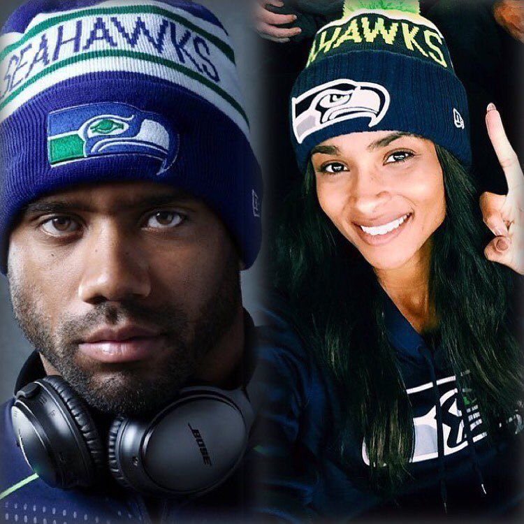 Ciara and Baby Future hit the Seahawks Game