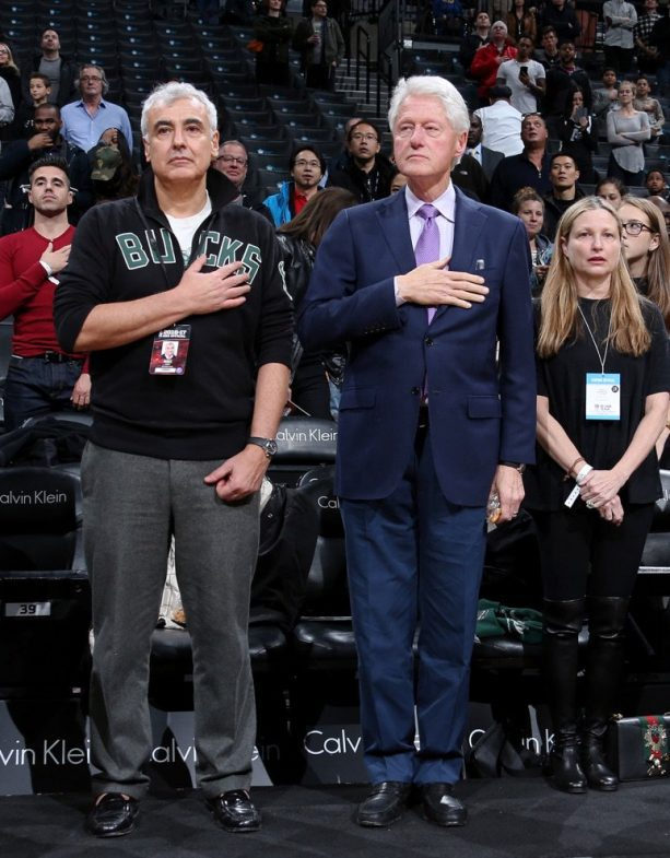 Girl's Cousins' Engagement Gets Blessed by Bill Clinton at Nets Game