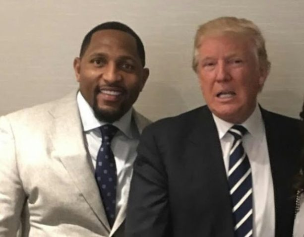 NFL Legends Jim Brown and Ray Lewis Meet Donald Trump