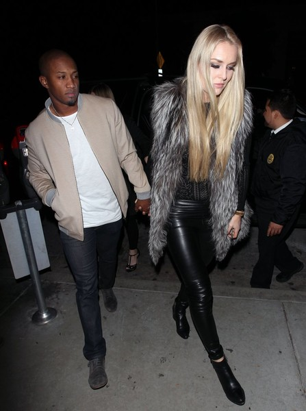 Lindsey Vonn Hits The Town With Her Boyfriend