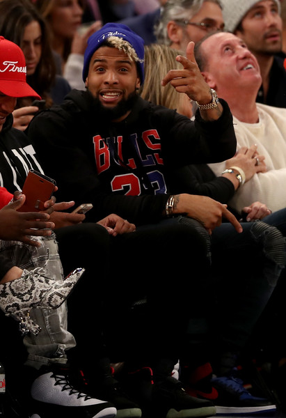 Odell Beckham Looking Sweet at The Knicks Game