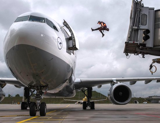 Freerunning Freak Moves Through The Airport With Quickness