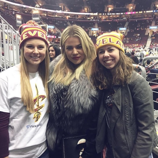 Khloe Shows off the Fur at Cavs Game