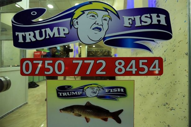 Trump Fish in Iraq Stole the Chargers Logo