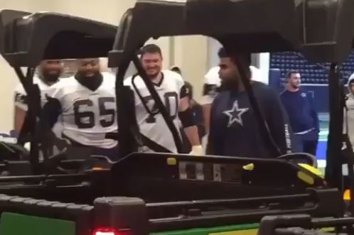Ezekiel Elliott Gifted His Offensive Line ATVs