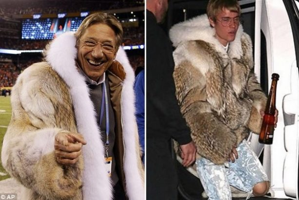 Justin Bieber Does his Best Joe Namath Impression