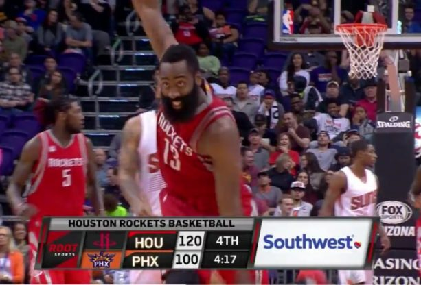James Harden with his best 3-point celebration Yet
