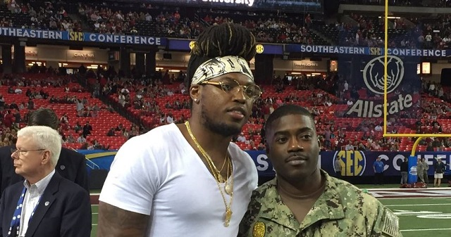 Derrick Henry And His Wild Hair Attended The SEC Championship Game