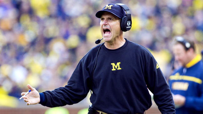 Twitter Trashed Jim Harbaugh For Calling Two Timeouts At The End Of The Orange Bowl