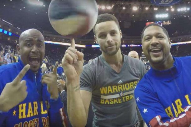 Steph Curry has dream come true with Harlem Globetrotters