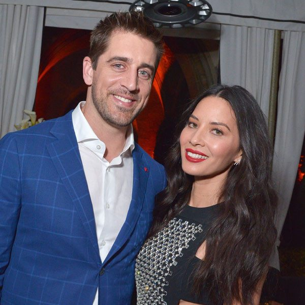 Olivia Munn was Cheering on Rodgers in Her Jean Jacket
