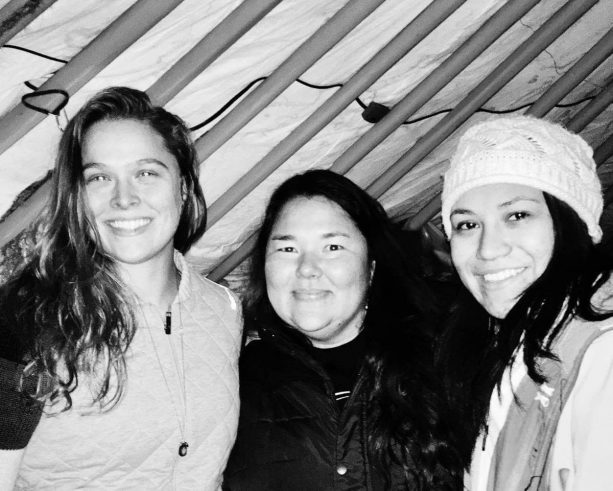 Ronda Rousey Arrives In South Dakota For Standing Rock