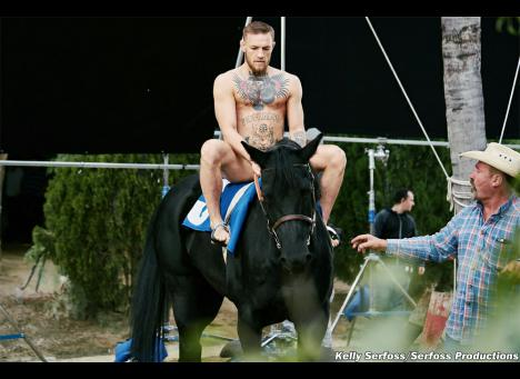 Conor McGregor Buck Naked on a Horse of Course