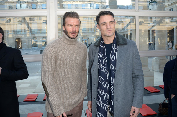David Beckham Attends Louis Vuitton : Front Row – Paris Fashion Week