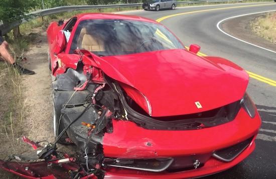 Ferrari Owner Totals $300K Ferrari 458 Italia