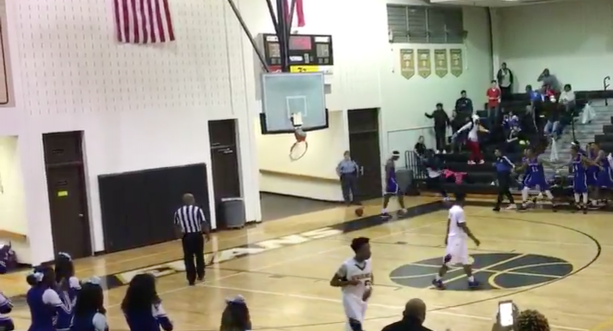 High Schooler Breaks Backboard During Game