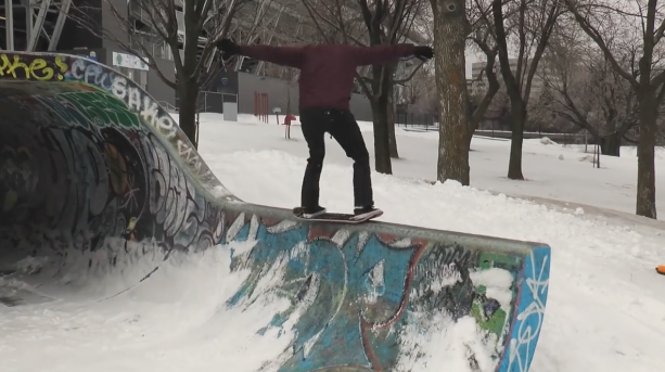 Josh Oakes 60 Days Snowskate Part