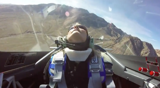 Lady Passes Out Flying In A Fighter Jet