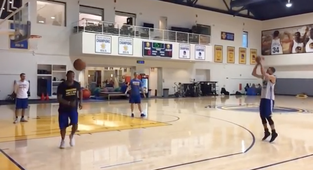 Steph Curry Shoots The Lights Out At Practice Draining 47/50 Three Pointers