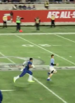 Ezekiel Elliot Having Fun With Fan Who Runs Onto Field