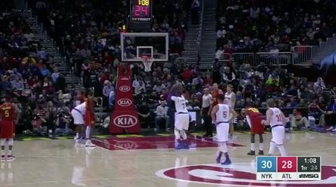 Atlanta Hawks Fans Giving Carmelo The Business