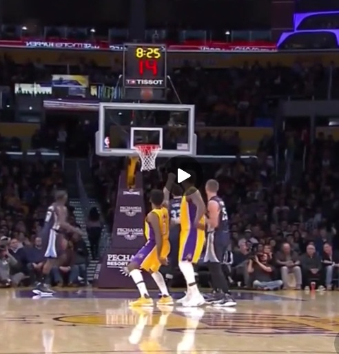Nick Young's 3 Point Thrust Celebration is Just Safe Enough for Work