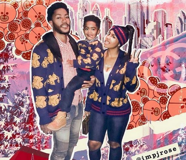 Derrick Rose and Baby Mamma Play Matching Game