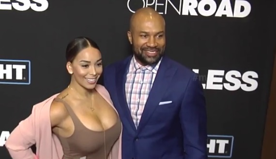 Gloria Govan Lets em Breathe with Derek Fisher at Movie Premiere