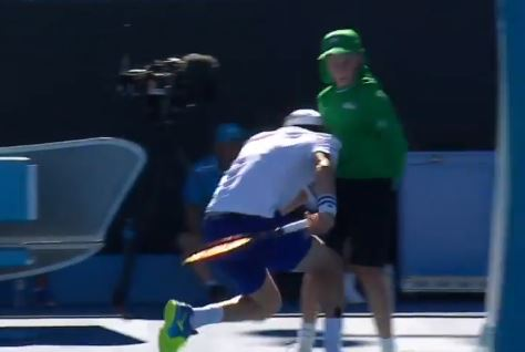 Tennis Player Ran Headfirst Into Ballboy At The Australian Open