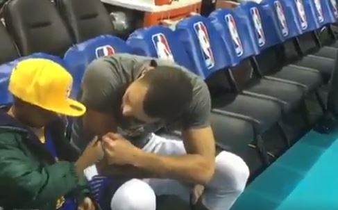Steph Curry Met With A Young Boy With Terminal Brain Cancer